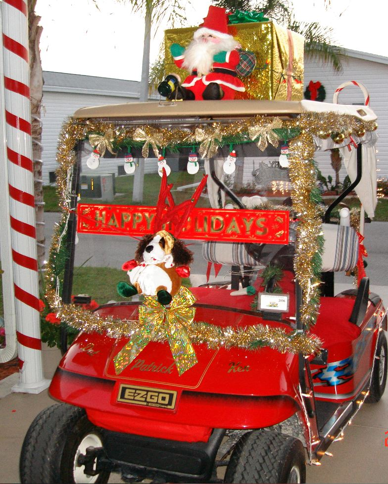 golf cart - Golf Cart Christmas Decorations
